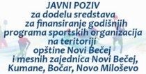 Javni konkurs iz oblasti sporta za 2017. godinu