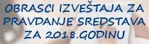 Obrasci izveštaja za pravdanje sredstava budžeta i samodoprinosa iz oblasti kulture i udruženja za 2018.godinu